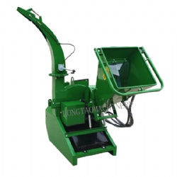 5 inch hydraulic feed wood chipper shredder for tree and branches CE approved